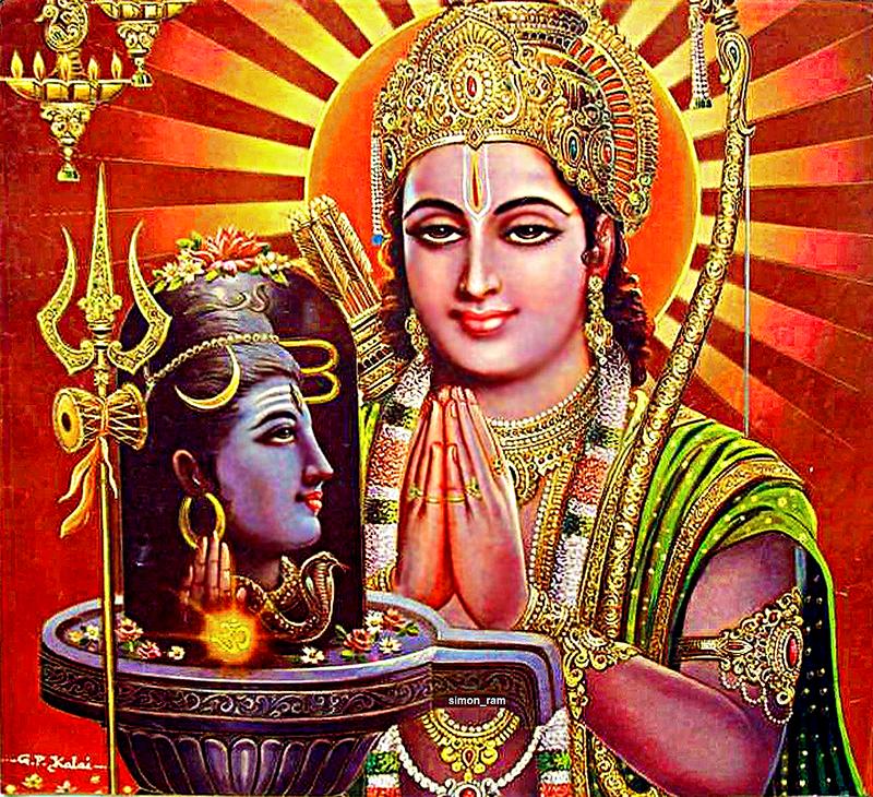 Индийская живопись. Поклонение Шиве