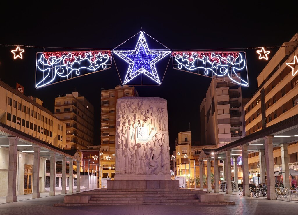 Castellon de la Plana,  Кастельон де ла Плана.   Plaza St. Clara