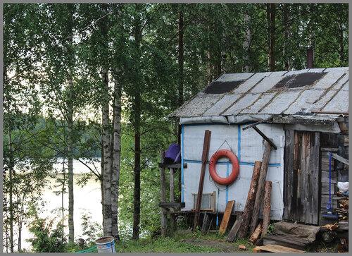 баня на берегу озера