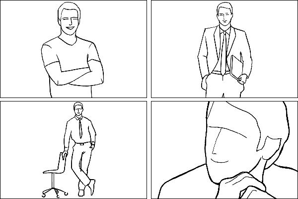 Позы для мужского портрета