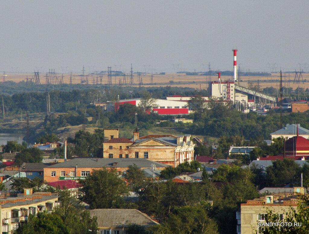Троицкая ГРЭС, вид с горы за Кирсараями
