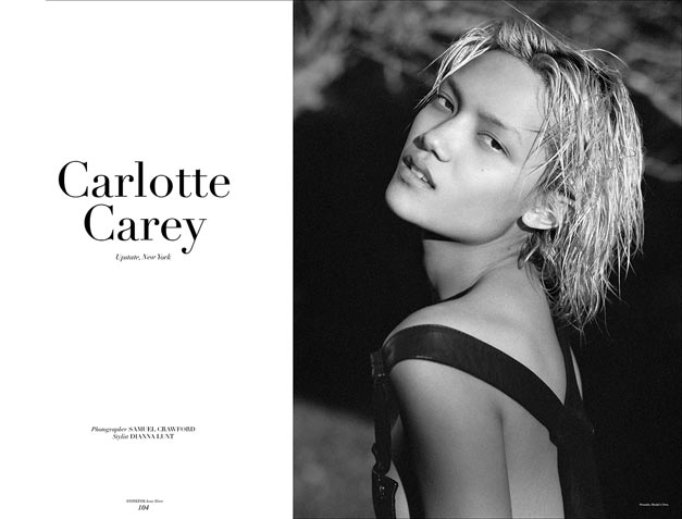 Шарлотта Кэри / Charlotte Carey by Samuel Crawford in Stonefox Magazine ss2014 issue Three