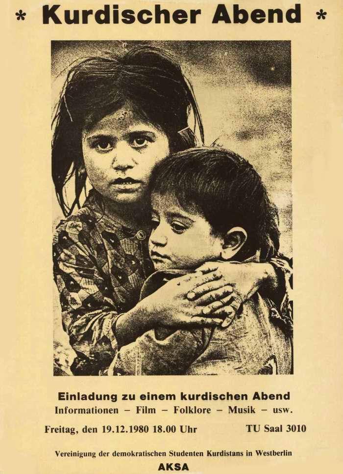 Курдский вечер. Приглашение для посещения культурной программы Демократического Союза студентов Курдистана в Германии