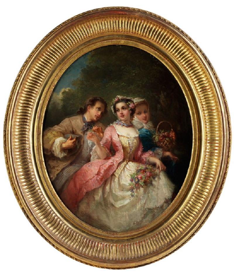 Tomić-Hampel Fine Art Auctions Eugène-Joseph LejeuneGALANT SCENE IN A PARK