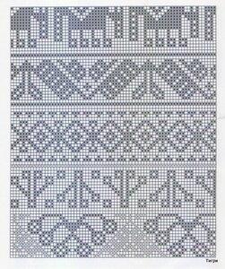 Этнические узоры для вязания спицами 68