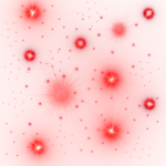 Deep Red Glowing Stars PNG 1000x1000.png