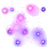 Pink And Purple Glowing Stars PNG 1000X1000.png