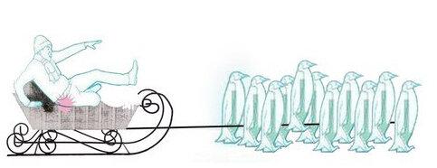 Зимние уроки: как правильно ходить по льду (2 фото)