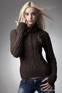 ОХ рукава-митенки - пуловер спицами