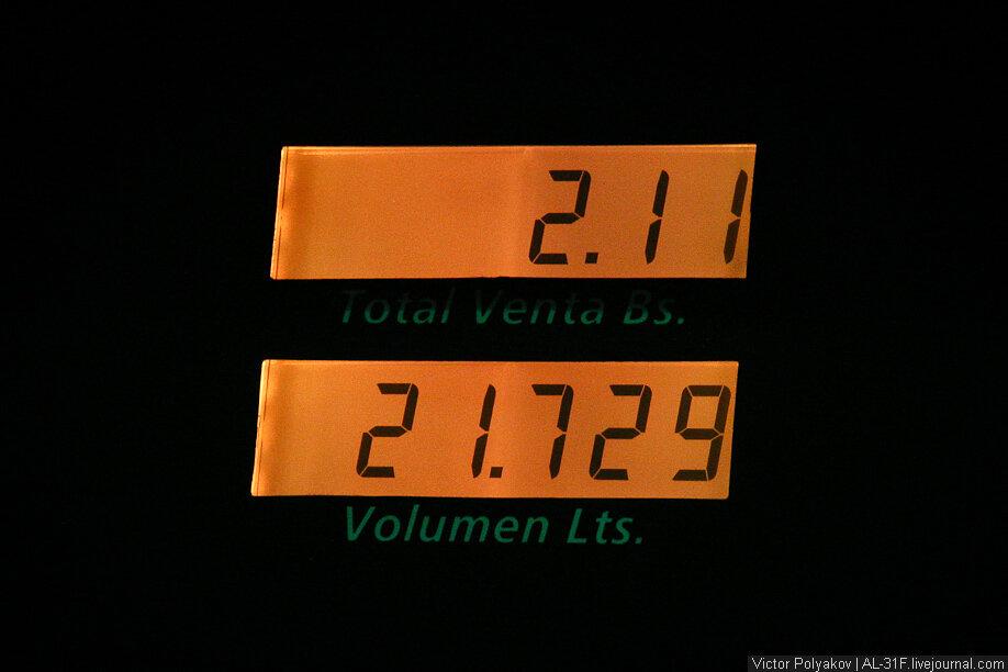 Венесуэла. Цена на бензин