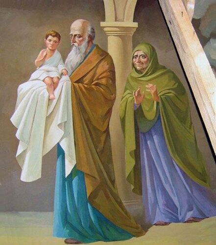 Сретение Господне со старцем Симеоном и Святой Анной
