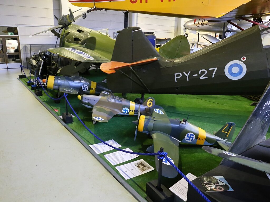 Авиамузей Хельсинки-Вантаа.  Finnish Aviation Museum. Самолеты 2й мировой. WW2 aircrafts