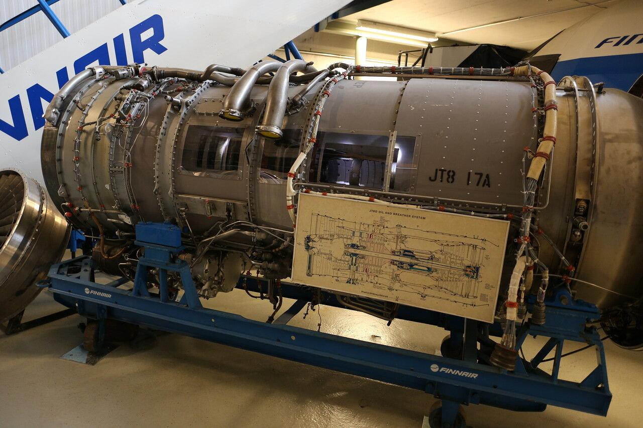 Авиамузей Вантаа. Двигатель Pratt & Whitney  JT8-17A