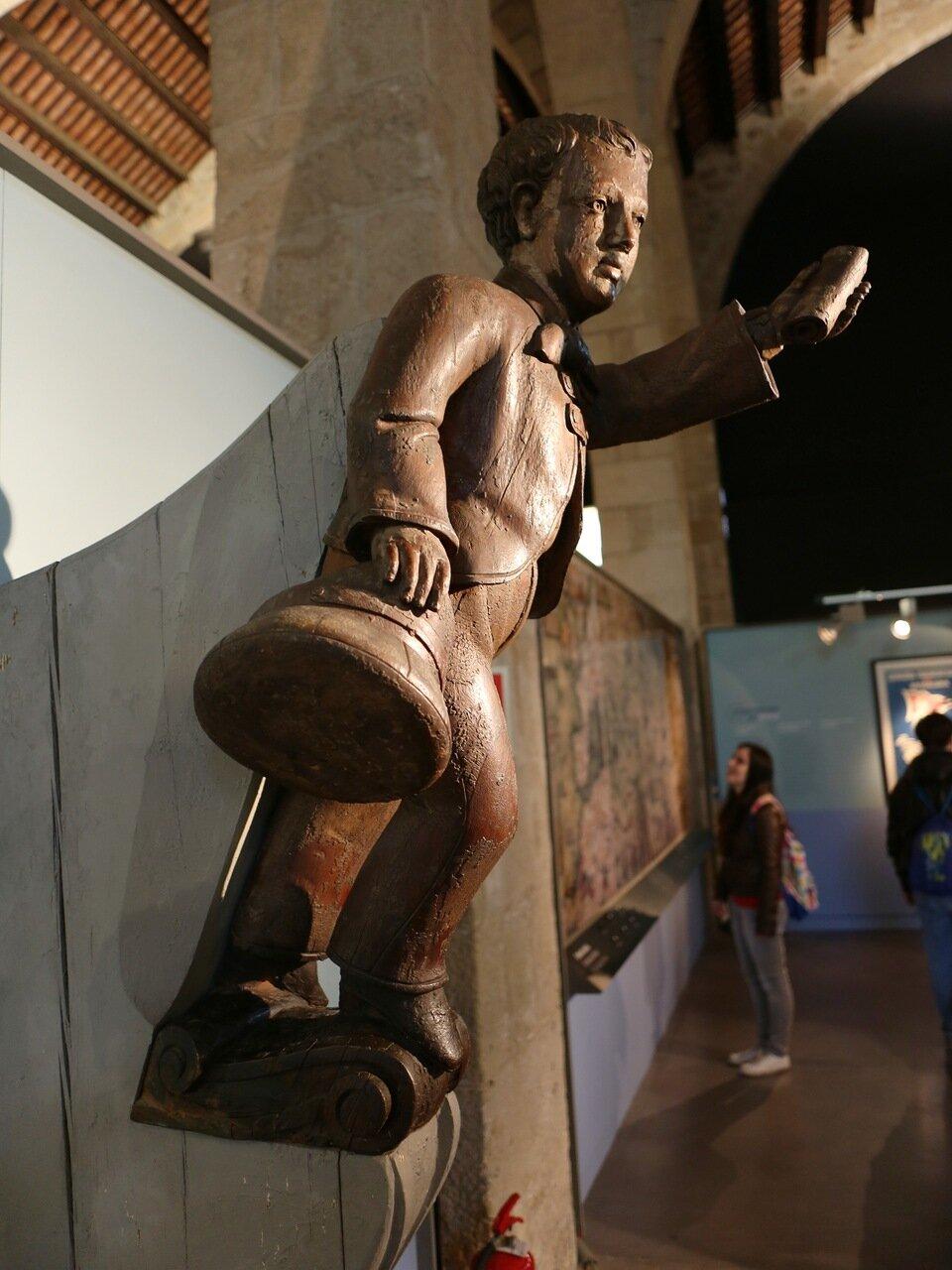 Maritime Museum of Barcelona. Galuna figure