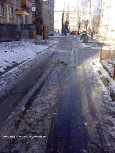 песок зима в луганске