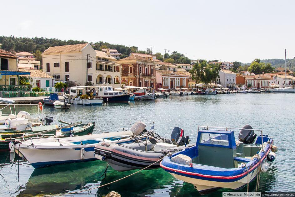 Порт Гайос, лодки, набережная