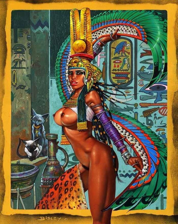 Нефертити (главная жена фараона Эхнатона) - Simon Bisley