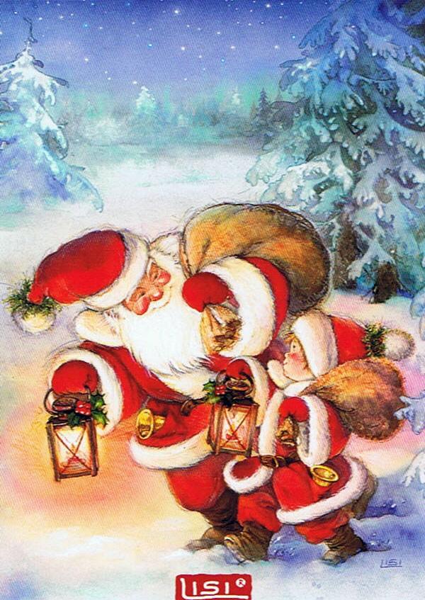 Новогодние открытки картина, надписями пожеланиями