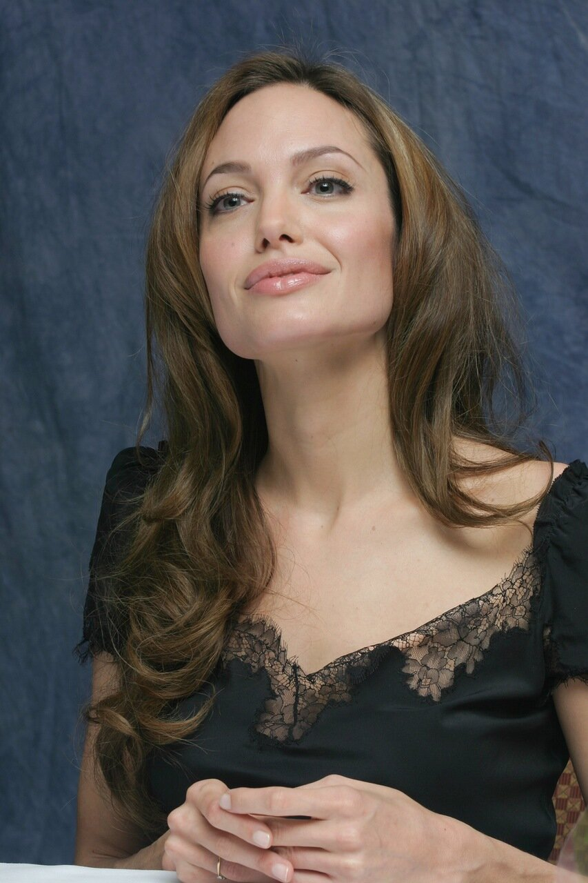 Actress Angelina Jolie at the Four Seasons Hotel in Beverly Hills