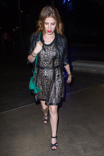 Anna Kendrick attends the Beyonce concert