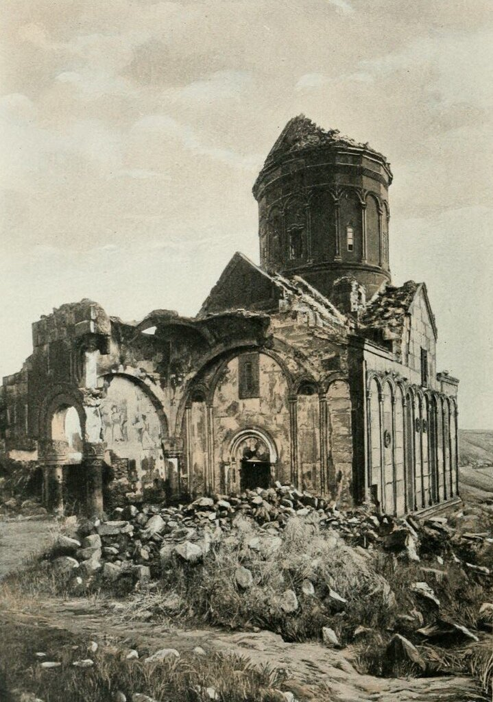 View of the Church of St. Gregory ruins from the west, Ani, 1893-98. Photo by Henry Lynch.jpg