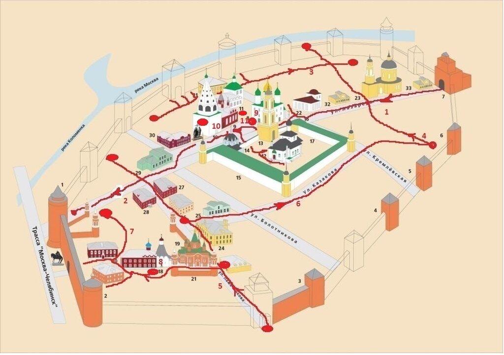 Схема кремля и 11я прогулка