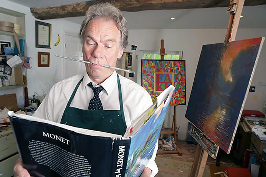 John Myatt. Konstförfalskare i England. Foto: Thomas Engström.