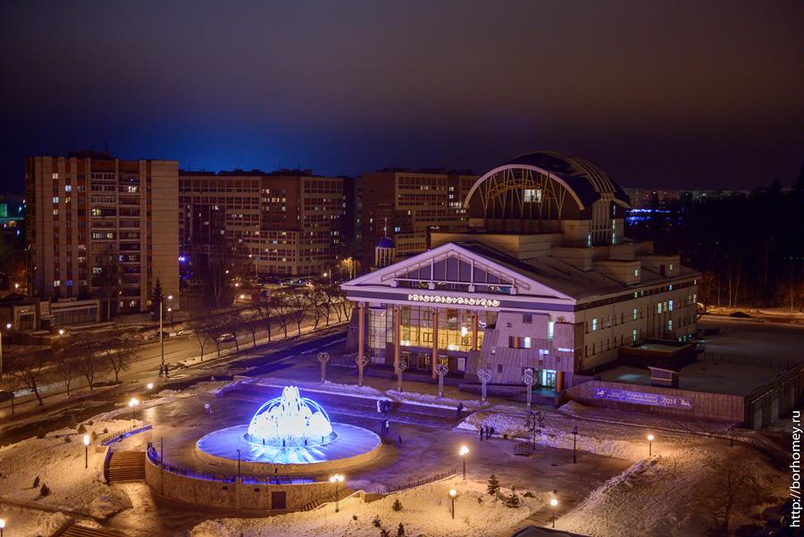 зимний фонтан саров