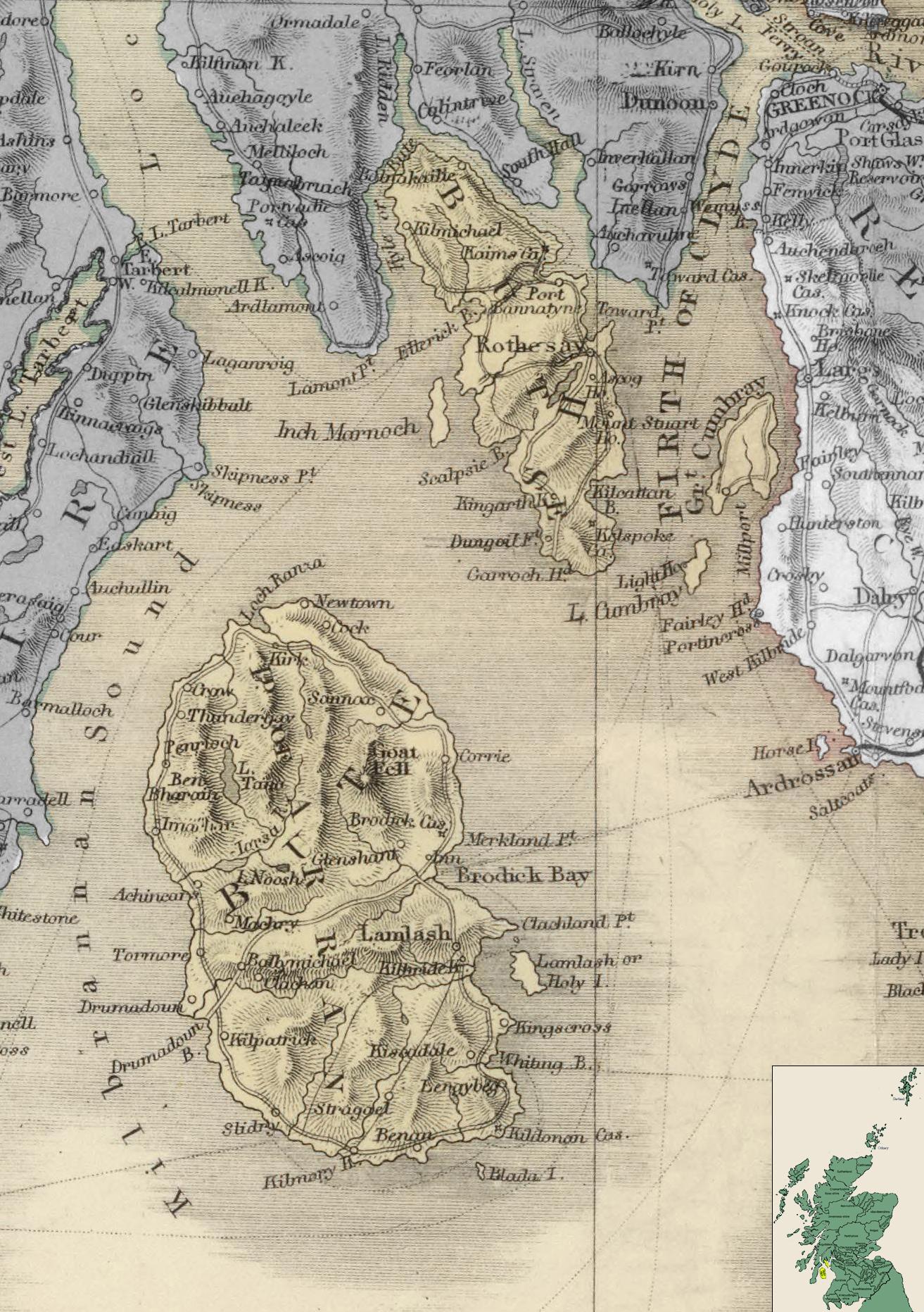 Карта Бьютшира
