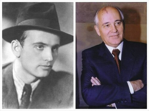 Михаил Горбачёв в юности