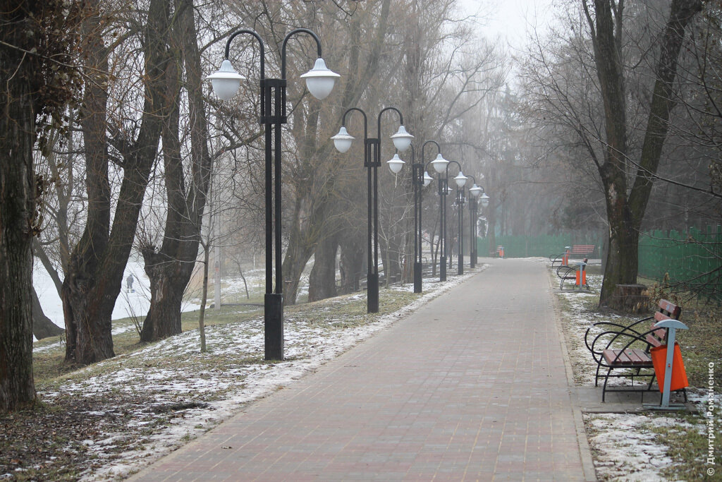зима, туман, Белгород