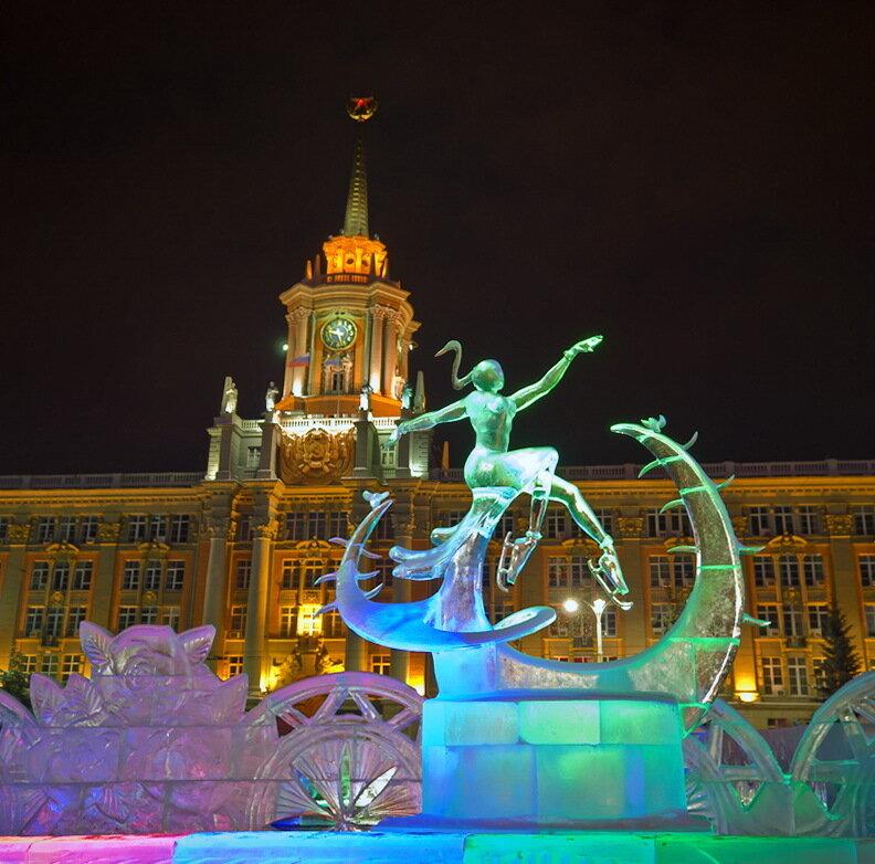 Фотография 7. Фигуристка на кактусе. Ледяной городок в Екатеринбурге