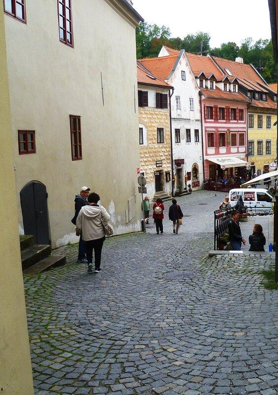 Чехия, улицы в Чески-Крумлове (Czech Republic, the streets in Cesky Krumlov)