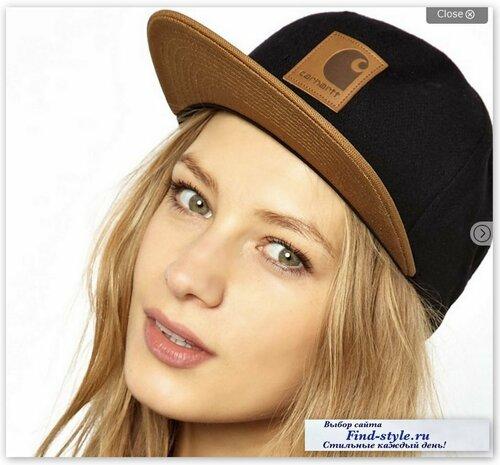 стильные шапки для девушек, бейсболки женские, кепки с прямым козырьком женские, Carhartt