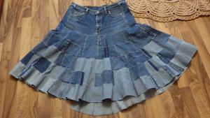 Джинсовая юбка6