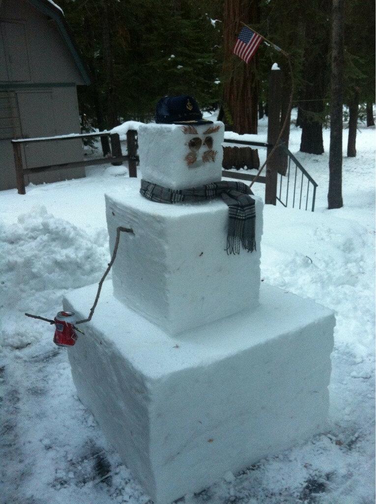 Я недавно переехал в США из Австралии и сделал свой первый в жизни снеговик. Я всё сделал правильно?