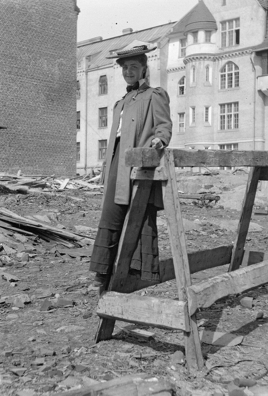 Керстин Энжер в Катаянокка, 1906