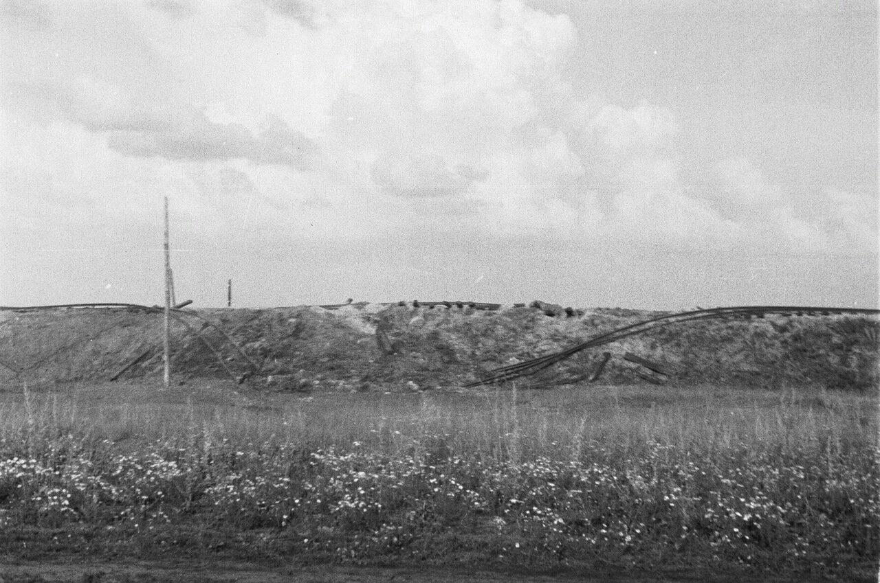 Белгородская область. Разрушенное железнодорожное полотно