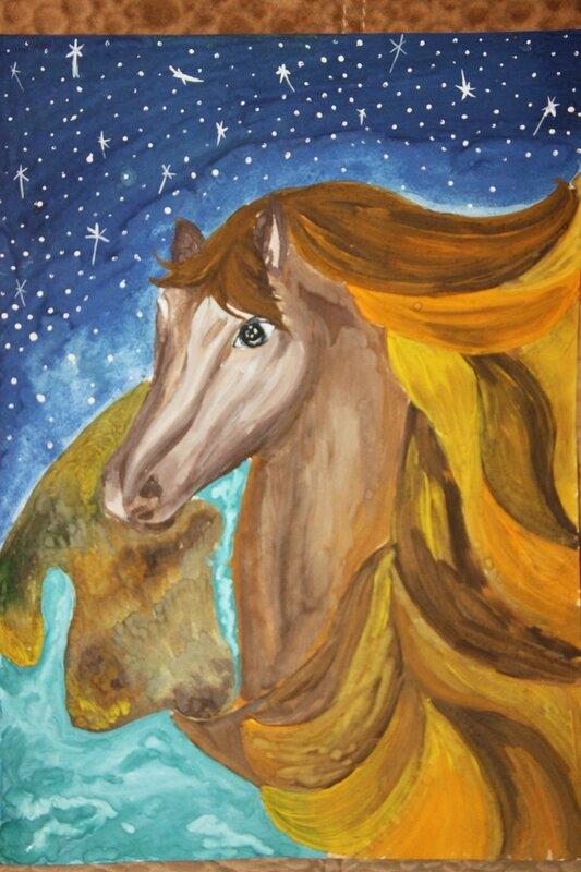 лошадка, рисунок
