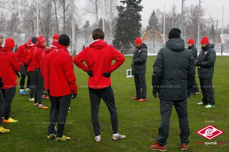 Тренировка «Спартака» перед матчем с «Ростовом» (Фото)