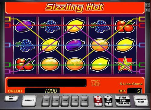 Игровой автомат Sizzling Hot - фруктовые деньги