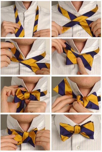 галстук узел бабочка