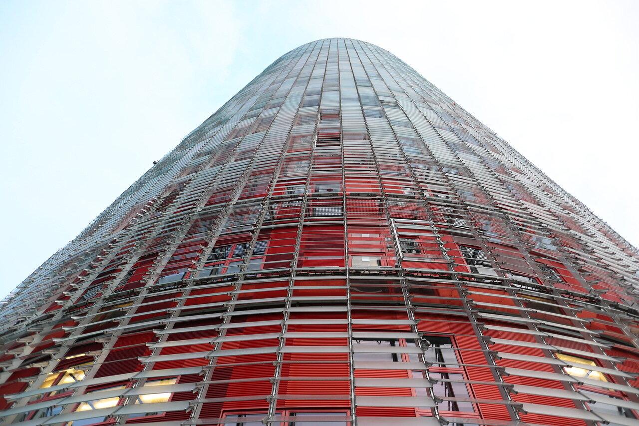 Glories tower (Torre Glòries) or Agbar tower (Torre Agbar). Barcelona