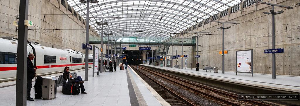 Кёльн бонн аэропорт вокзал название остановки