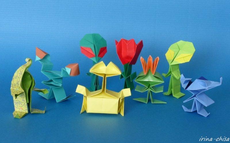 оригами Fumiaki Kawahata.