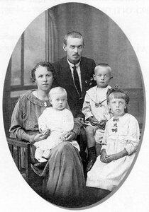 Семья Соберг. Архангельск. 1918 г.