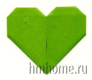 Сердце оригами - альбомный уголок
