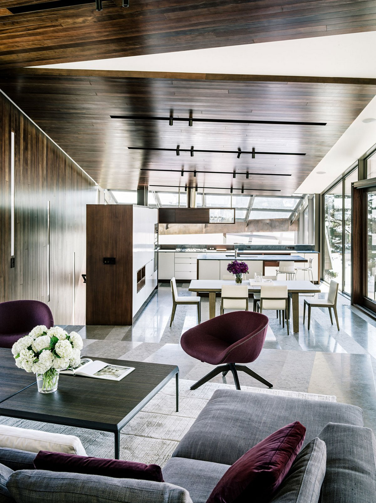 Fougeron Architecture, Fall House, дома в Калифорнии, лучшие дома США, дом на краю обрыва, стеклянная крыша дома, потрясающий вид из окон частного дома