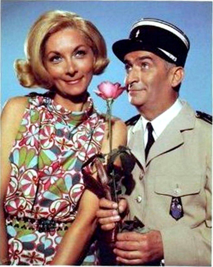 Луи де Фюнес с женой кинематографической. 1 (1).jpg