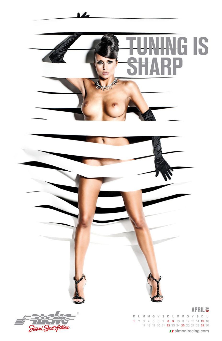 Эротичная фотомодель Франческа Лукасик (Francesca Lukasik) в календаре авто-тюнинг-ателье Simoni Racing на 2012 год